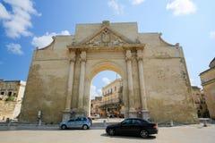 Neapolitan Gate or Porta Napoli in Lecce, Italy Stock Photo