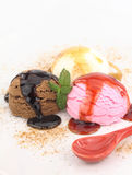 Neapolitan ice cream Stock Photos