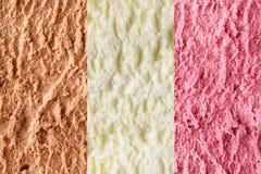 Neapolitan ice cream background Stock Images