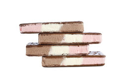 Neapolitan ice cream bars Royalty Free Stock Photography