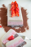 Neapolitan ice cream cake. Home made neapolitan ice cream cake Stock Image