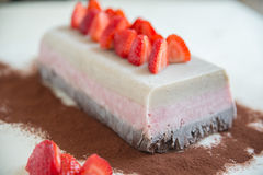 Neapolitan ice cream cake. Home made neapolitan ice cream cake Royalty Free Stock Image