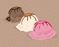 Neapolitan ice cream Royalty Free Stock Images