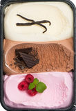 Neapolitan Ice Cream Stock Photo