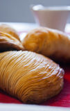 Neapolitan sfogliatella. The puff is a typical Neapolitan pastry Stock Images