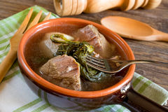 Neapolitan soup with vegetables and meat stock image