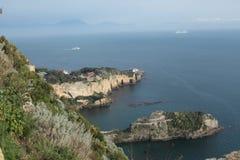 Neapolitan wybrzeże Obraz Royalty Free