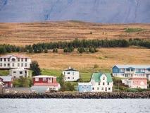 Near Akureyri. Some pretty houses near Akureyri in Iceland Royalty Free Stock Photo