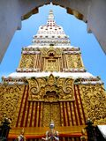 Wat phra that at Nakorn Phanom Thailand. Near the banks of the Mekong river in the village of That Phanom in Nakhon Phanom province lies one of the most highly Royalty Free Stock Image