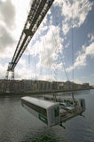 Near Bilbao, the Puente Colgante de Bizcaia, Biscay hanging or transporter bridge, connecting Portugalete on the left bank of the  Royalty Free Stock Image