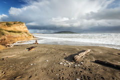 Near Bluff New Zealand the southern mainland point of New Zealan Royalty Free Stock Image