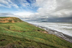 Near Bluff New Zealand the southern mainland point of New Zealan Royalty Free Stock Photography