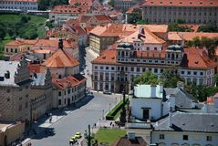 Near the castle of Prague Stock Images