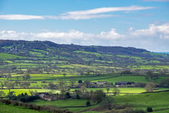 NEAR CHARD, SOMERSET/UK - MARCH 22 : Scenic View of the Undulati. Ng Countryside of Somerset on March 22, 2017 stock image