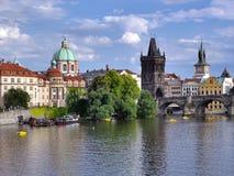 Near Charles Bridge, Prague, Czech Republic. Prague Old Town near Charles Bridge, Czech Republic, Europe Stock Photo