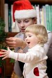 Near the Christmas tree Stock Image