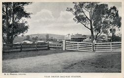 Near Drouin Railway Station, Victoria - 1911 Stock Photos