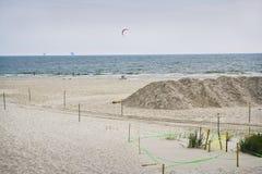 Near Empty Beach in July, Gulf Coast Stock Photos
