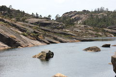 Near Ezaro river waterfal. Sea. Rocks. Landscape Stock Photo