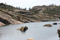 Near Ezaro river waterfal. Sea. Rocks. Landscape Stock Photo