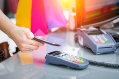 Near field communication NFC mobile phone payment. Stock Images