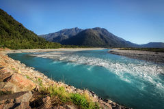Near Franz & Fox glaciers in New Zealand in the South Island., N Royalty Free Stock Photography