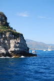 Near Gallinara island Royalty Free Stock Images