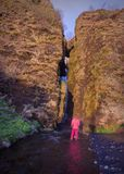 Near the Gljufrabui waterfall on south Iceland royalty free stock photos