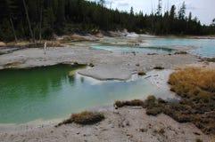 Yellowstone Hot Springs blue landscape Stock Photos