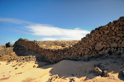 Near La Oliva in Fuerteventura Spain Royalty Free Stock Image