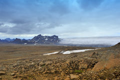 Near Langjokull glacier, Iceland. Mountains and rocks near Langjokull glacier, Iceland Royalty Free Stock Photo