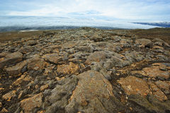 Near Langjokull glacier, Iceland. Rocks and ice near Langjokull glacier, Iceland Stock Photos
