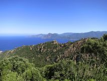 Near les Calanches (Calanques) of Porto, Corsica Stock Photos