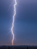Near lightning strike Stock Images