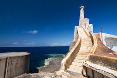 Near Marfa Harbour Malta gozo island on background Royalty Free Stock Photography