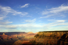 Near Maricopa Point, late afternoon view into the Colorado River. Gorge on the South Rim Trail,at the Grand Canyon National Park, Arizona Royalty Free Stock Photo