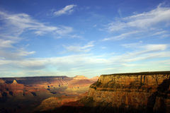 Near Maricopa Point, late afternoon view into the Colorado River. Gorge on the South Rim Trail,at the Grand Canyon National Park, Arizona Royalty Free Stock Photography