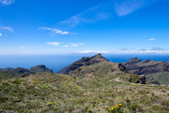 Near Masca village at Tenerife Islands road Stock Photo