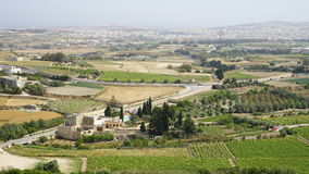 Near Mdina, Malta. View around Mdina city, Malta Royalty Free Stock Photo