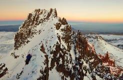 Near Mountain Aragats Armenia. the highest armenian`s peak. Autumn in Armenia. Mountain sky peaks snow sun blue snow Armenia Caucasus sky Sun Royalty Free Stock Images