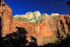 Temple of Sinawava, Zion National Park, Utah stock photos