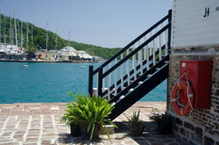 Near Nelsons dockyard in English Harbour Stock Photography