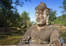 Near north gate Angkor Thom, Siem Reap, Cambodia Stock Images