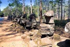 Near north gate Angkor Thom, Siem Reap, Cambodia Stock Photography