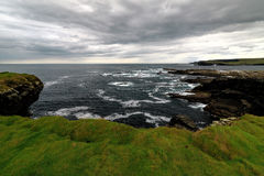 Near the ocean - Cliffs & nature at the coast of Ireland Stock Photos