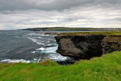 Near the ocean - Cliffs & nature at the coast of Ireland Stock Images
