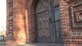 Near the old church stock video footage