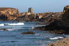 Peniche around - Portugal. Near Peniche there are a lot of surf spots and amazing landscapes stock photos