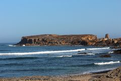 Peniche around - Portugal. Near Peniche there are a lot of surf spots and amazing landskapes with lots of rocks stock image