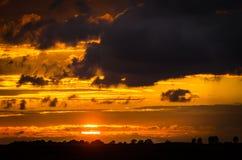 Near polsk villige för solnedgång Royaltyfria Foton